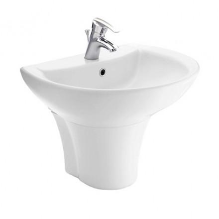 Chậu rửa lavabo chân lửng TOTO LT942CK/ PT942HFK