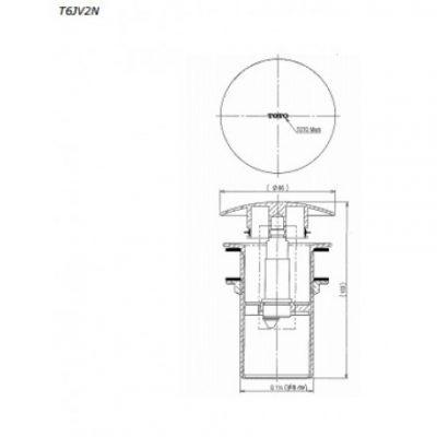 bản vẽ bộ xả nhấn lavabo TOTO T6JV2N