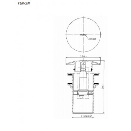 Bộ xả nhấn lavabo TOTO T6JV2N
