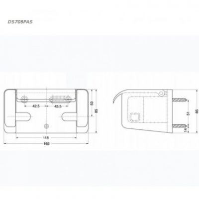 bản vẽ hộp giấy vệ sinh TOTO DS708PAS