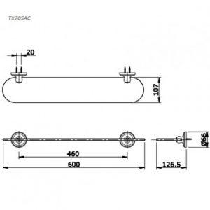 bản vẽ kệ kính phòng tắm TOTO TX705AC