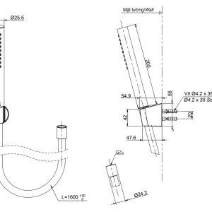 bản vẽ vòi sen tắm TOTO TBW02017A