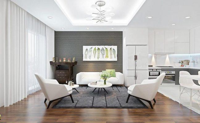 nội thất phòng khách hiện đại và tiện nghi