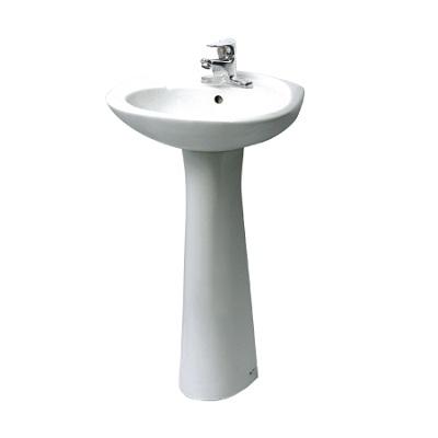 Chậu rửa lavabo chân dài INAX L-284V