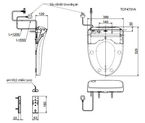 bản vẽ TOTO TCF4731A
