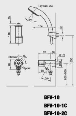 bản vẽ INAX BFV-10-2C
