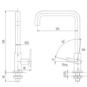 bản vẽ INAX SFV-30