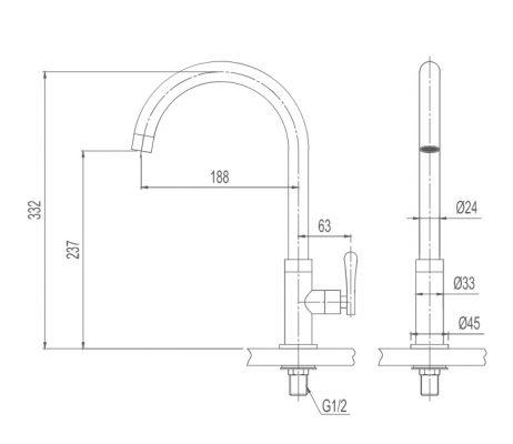 bản vẽ INAX SFV-31