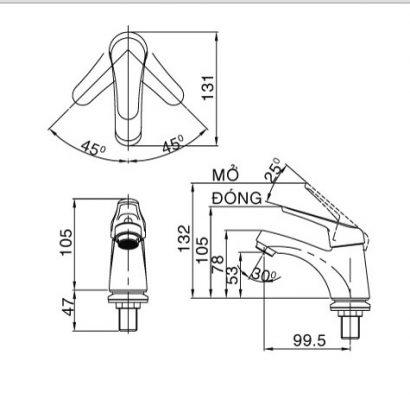 bản vẽ vòi lạnh INAX LFV-20S