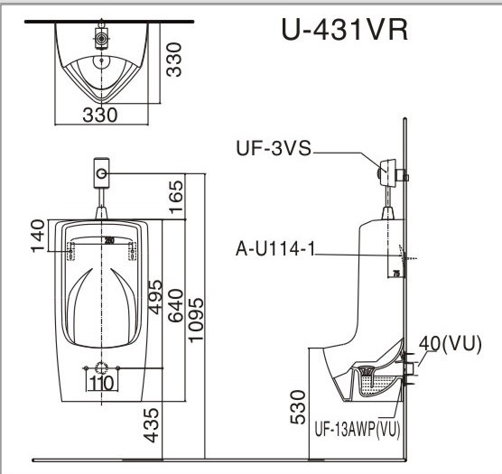 bản vẽ INAX AU-431VR