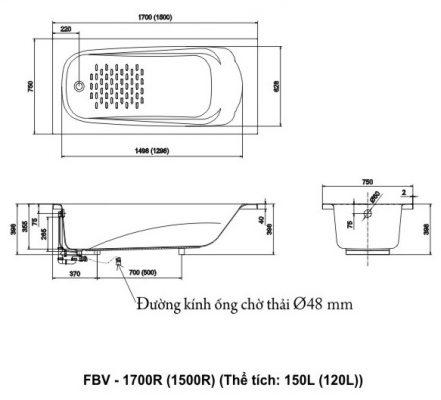 bản vẽ INAX FBV-1700R
