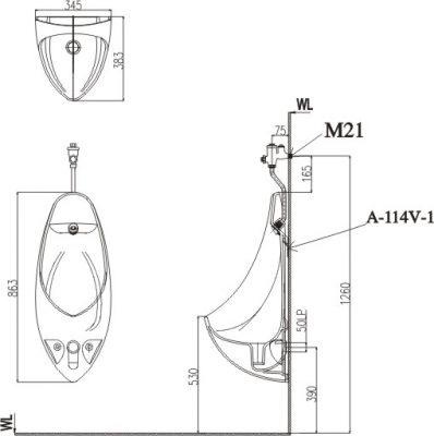 bản vẽ INAX AU-417V