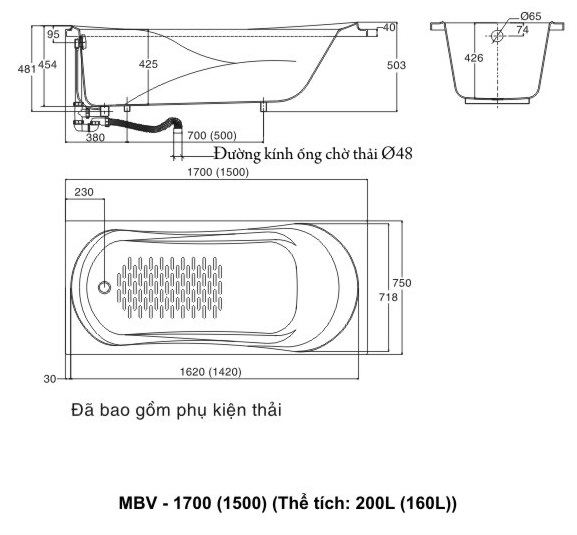 bản vẽ INAX MBV-1700