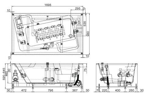 bản vẽ INAX MSBV-1700B