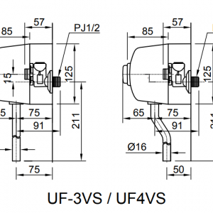 bản vẽ INAX UF-3VS
