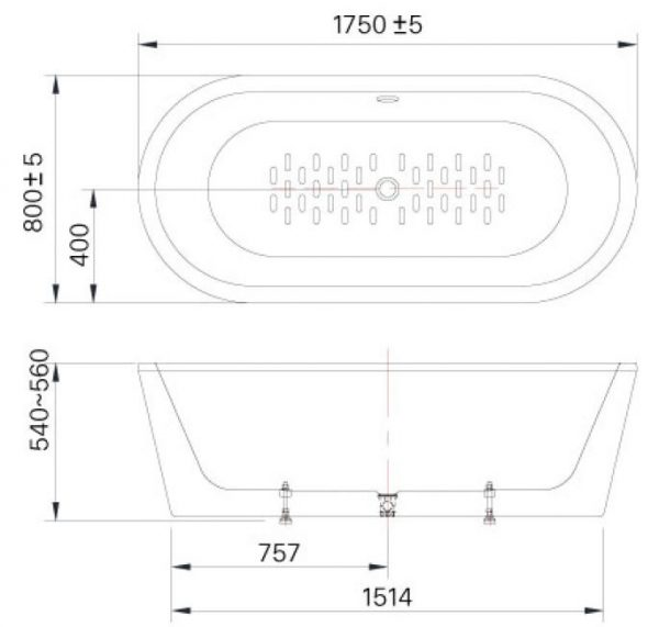 bản vẽ bồn tắm INAX BF-1757