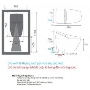 bản vẽ bồn cầu INAX REGIO
