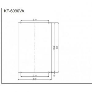 bản vẽ gương INAX KF-6090VA