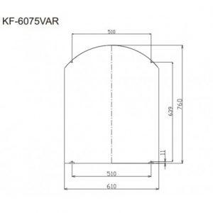 bản vẽ gương INAX KF-6075VAR