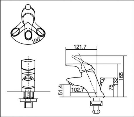 bản vẽ INAX LFV-102S