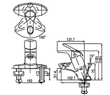 Bản vẽ INAX LFV-202S