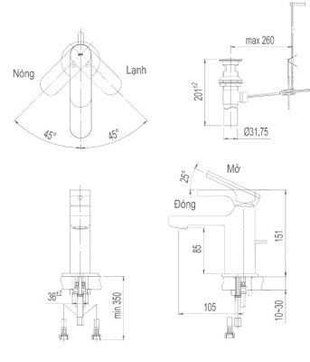bản vẽ INAX LFV-6002S
