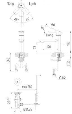bản vẽ INAX LFV-7102S