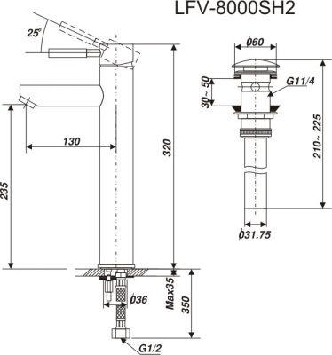 Bản vẽ INAX LFV-8000SH2