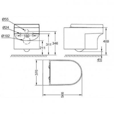 ban ve chau lavabo caesar lf5254