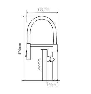 bản vẽ vòi bếp geler gl-3054
