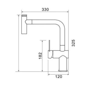 bản vẽ vòi chậu rửa bát inox 304 Geler GL-3065