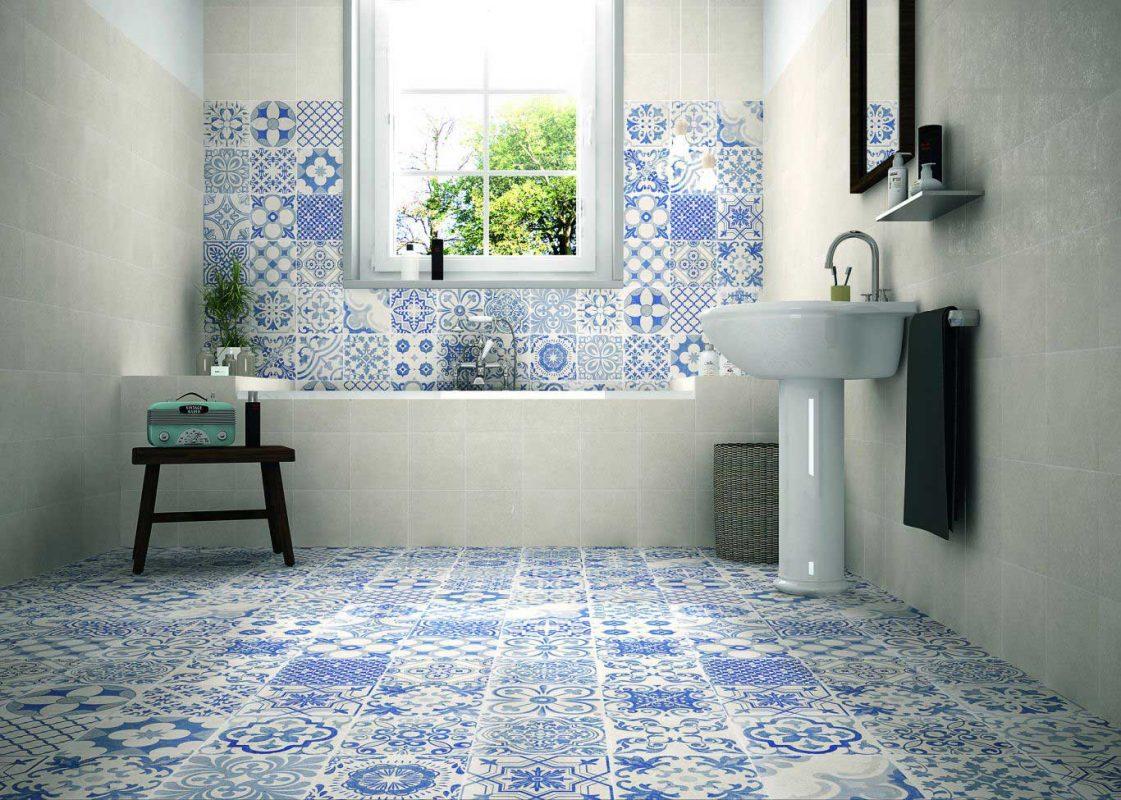 gạch bông ốp tường phòng tắm