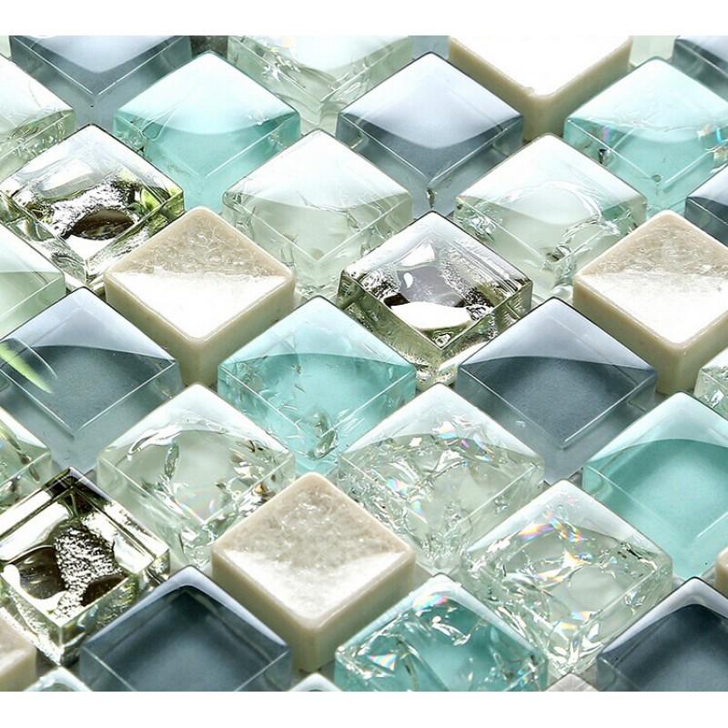 gạch khảm thủy tinh - gạch kính mosaic