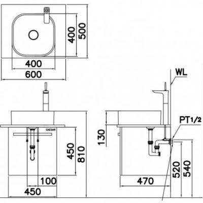 ban ve chau lavabo lf5256