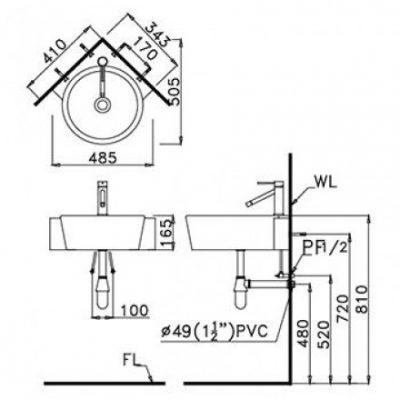 ban ve chau lavabo lf5238