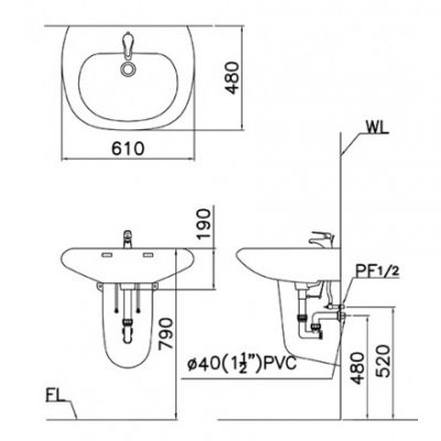 ban ve lavabo caesar l2560