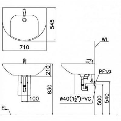 ban ve lavabo caesar lf2270