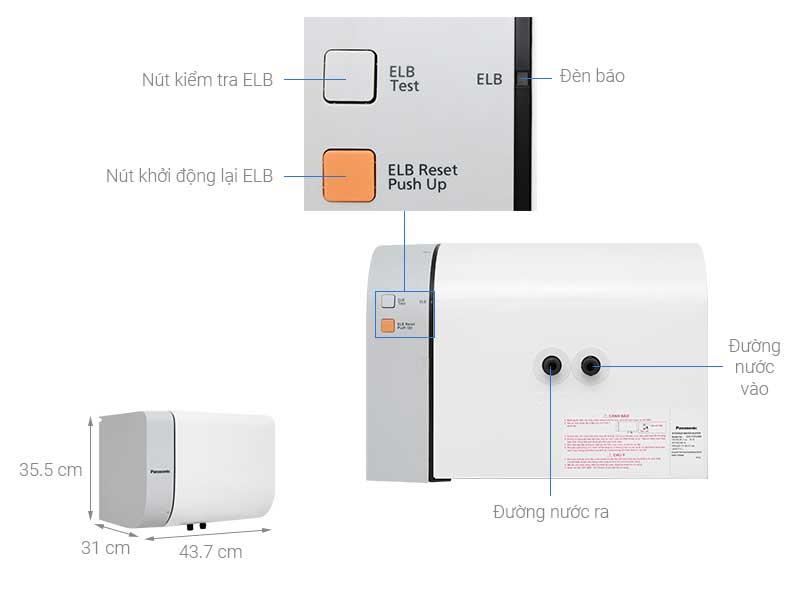 Bình nóng lạnh Panasonic DH-15HAM 15 lít