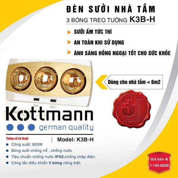 đèn sưởi kottmann k3bh