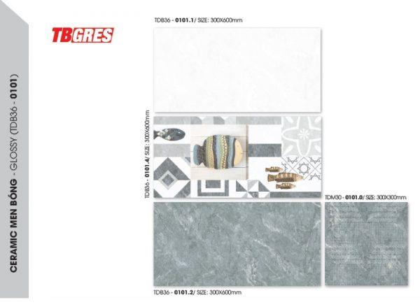 bộ gạch ốp vệ sinh tdb36-01011
