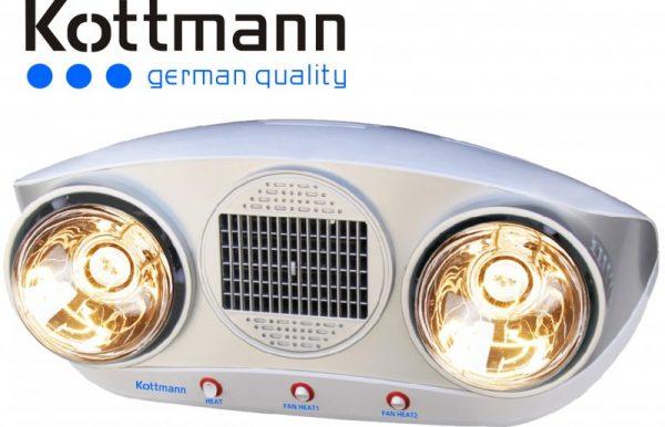 đèn sưởi phòng tắm Kottmann 2 bóng K2B-HW-S