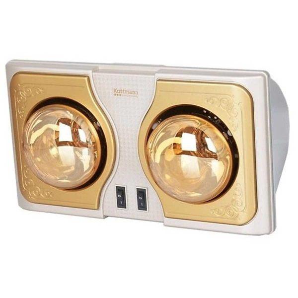 Đèn sưởi phòng tắm Kottmann 2 bóng K2BH