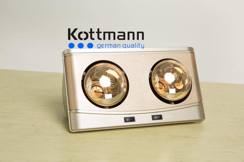 đèn sưởi 2 bóng Kottman K2BQ