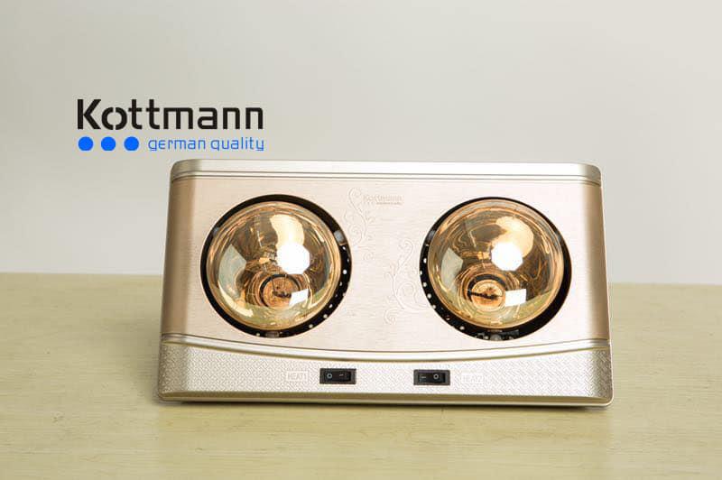 Đèn sưởi nhà tắm Kottman 2 bóng K2BQ