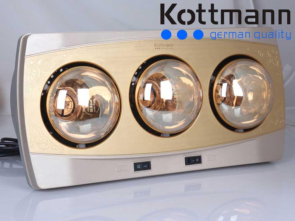 Đèn sưởi nhà tắm Kottmann 3 bóng K3BH