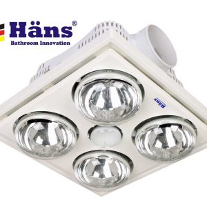 Đèn sưởi nhà tắm âm trần 4 bóng Hans H4B