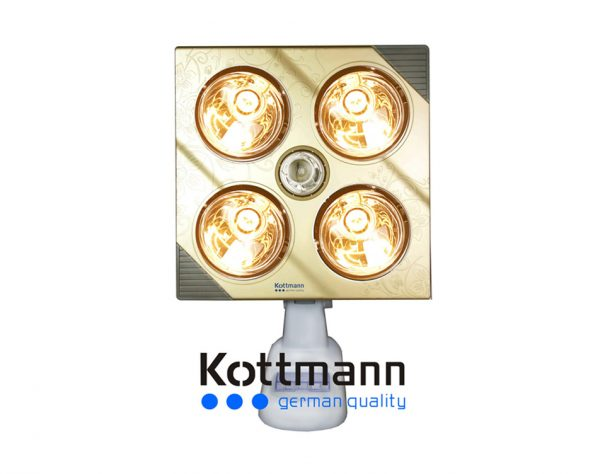 Đèn sưởi nhà tắm Kottman 4 bóng K4B-G