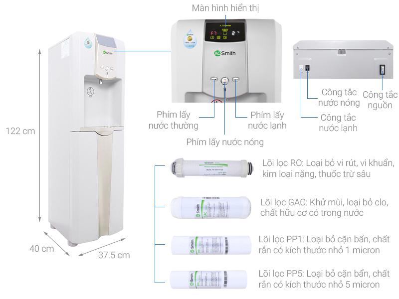 Máy lọc nước RO nóng lạnh AOSmith ADR75-V-ET-1