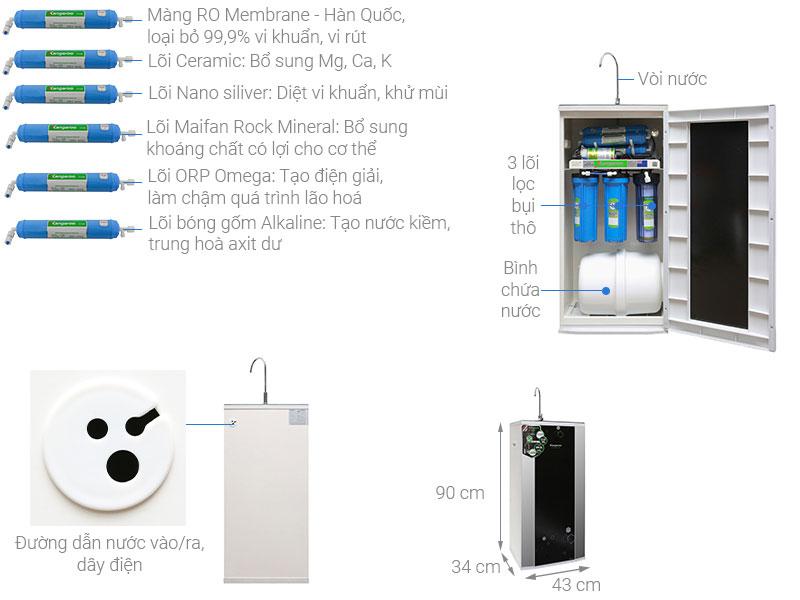 máy lọc nước Kangaroo KG99A VTU