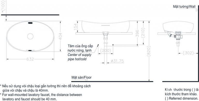 Bản vẽ kỹ thuật chậu rửa TOTO PJS01WE#MW
